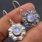 Moonstone-Gemstone-Sterling-Silver-Floral-Dangle-Earrings-for-Women-and-Girls-Bezel-Set-Ear-Wire-Earrings-White-Brides-B08K62LNNG
