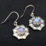 Moonstone-Gemstone-Sterling-Silver-Floral-Dangle-Earrings-for-Women-and-Girls-Bezel-Set-Ear-Wire-Earrings-White-Brides-B08K62LNNG-2