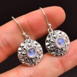 Moonstone-Gemstone-Sterling-Silver-Floral-Drop-Earrings-for-Women-and-Girls-Bezel-Set-Ear-Wire-Earrings-White-Bridesma-B08K633DB8