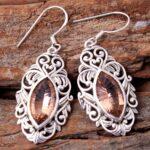 Morganite-Gemstone-Sterling-Silver-Drop-Earrings-for-Women-and-Girls-Bezel-Set-Ear-Wire-Earrings-Peach-Bridesmaid-Earr-B08K61YSZZ