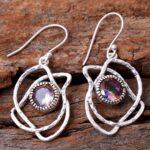 Mystic-Topaz-Gemstone-Sterling-Silver-Dangle-Earrings-for-Women-and-Girls-Bezel-Set-Ear-Wire-Earrings-Multi-Colour-Bri-B08K64D676-2
