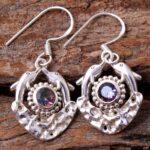Mystic-Topaz-Gemstone-Sterling-Silver-Fish-Dangle-Earrings-for-Women-and-Girls-Bezel-Set-Ear-Wire-Earrings-Multi-Colou-B08K61XW3V-2