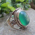 Natural-Green-Onyx-925-Sterling-Silver-Ring-Gemstone-Jewelry-B07QP97CGJ