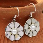 Pearl-Gemstone-Sterling-Silver-Dangle-Earrings-for-Women-and-Girls-Bezel-Set-Ear-Wire-Earrings-White-Bridesmaid-Earrin-B08K61NWR6