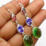 Peridot-Gemstone-Sterling-Silver-3-tier-Drop-Earrings-for-Women-and-Girls-Bezel-Set-Ear-Wire-Earrings-Red-Bridesmaid-E-B08K61PFXC