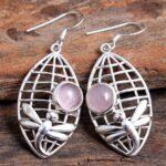 Rose-Quartz-Gemstone-Sterling-Silver-Dragonfly-Web-Drop-Earrings-for-Women-and-Girls-Bezel-Set-Ear-Wire-Earrings-Pink-B08K644J9D-2