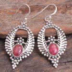 Ruby-Gemstone-Sterling-Silver-Boho-Leaf-Drop-Earrings-for-Women-and-Girls-Bezel-Set-Ear-Wire-Earrings-Red-Bridesmaid-E-B08K61G2GJ
