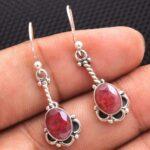 Ruby-Gemstone-Sterling-Silver-Drop-Earrings-for-Women-and-Girls-Bezel-Set-Ear-Wire-Earrings-Red-Bridesmaid-Earrings-B08K61KKJY-2