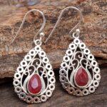 Ruby-Gemstone-Sterling-Silver-Drop-Earrings-for-Women-and-Girls-Bezel-Set-Ear-Wire-Earrings-Red-Bridesmaid-Earrings-B08K61VHRQ