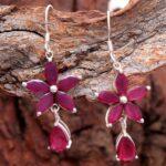Ruby-Gemstone-Sterling-Silver-Drop-Earrings-for-Women-and-Girls-Prongs-Set-Ear-Wire-Earrings-Red-Bridesmaid-Earrings-B08K674JZS