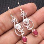 Ruby-Gemstone-Sterling-Silver-Floral-Drop-Earrings-for-Women-and-Girls-Bezel-Set-Ear-Wire-Earrings-Red-Bridesmaid-Earr-B08K62KZD8