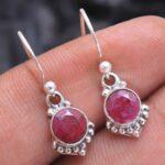 Ruby-Gemstone-Sterling-Silver-Small-Dangle-Earrings-for-Women-and-Girls-Bezel-Set-Ear-Wire-Earrings-Red-Bridesmaid-Ear-B08K5YNTKJ-2