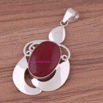 Ruby-Pendant-925-Sterling-Silver-Pendants-for-Womens-Oval-Gemstone-Pendants-Handmade-July-Birthstone-Pendants-Statem-B07V7Y6877