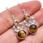 Tiger-Eye-Gemstone-Sterling-Silver-Drop-Earrings-for-Women-and-Girls-Bezel-Set-Ear-Wire-Earrings-Brown-Bridesmaid-Earr-B08K5ZSLV7