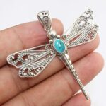 Turquoise-Dragonfly-925-Sterling-Silver-Pendant-Available-in-other-stones-too-B07RHP7KV3