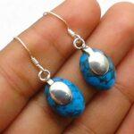 Turquoise-Gemstone-Sterling-Silver-Dangle-Earrings-for-Women-and-Girls-Bezel-Set-Ear-Wire-Earrings-Blue-Bridesmaid-Ear-B08K61P1VC