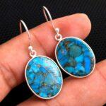 Turquoise-Gemstone-Sterling-Silver-Dangle-Earrings-for-Women-and-Girls-Bezel-Set-Ear-Wire-Earrings-Blue-Copper-Turquoi-B08K64VWFY