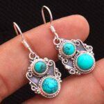 Turquoise-Gemstone-Sterling-Silver-Dangle-Earrings-for-Women-and-Girls-Bezel-Set-Ear-Wire-Earrings-Turquoise-Bridesmai-B08K5ZZFJ1