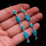 Turquoise-Gemstone-Sterling-Silver-Drop-Earrings-for-Women-and-Girls-Bezel-Set-Ear-Wire-Earrings-Turquoise-Bridesmaid-B08K5YB7S2