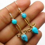 Turquoise-Gemstone-Sterling-Silver-Drop-Earrings-for-Women-and-Girls-Bezel-Set-Ear-Wire-Earrings-Turquoise-Bridesmaid-B08K64D4MP
