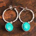 Turquoise-Gemstone-Sterling-Silver-Hoop-Earrings-for-Women-and-Girls-Bezel-Set-Pushback-Earrings-Turquoise-Bridesmaid-B08K5Z48JC