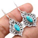 Turquoise-Gemstone-Sterling-Silver-Vintage-Dangle-Earrings-for-Women-and-Girls-Bezel-Set-Ear-Wire-Earrings-Turquoise-B-B08K62B2JG
