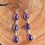 amethyst-Gemstone-Sterling-Silver-3-tier-Drop-Earrings-for-Women-and-Girls-Bezel-Set-Ear-Wire-Earrings-Purple-Bridesma-B08K62GKFC-2