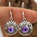 amethyst-Gemstone-Sterling-Silver-Dangle-Earrings-for-Women-and-Girls-Bezel-Set-Ear-Wire-Earrings-Purple-Bridesmaid-Ea-B08K63ZYCG-2