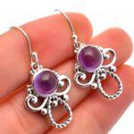 amethyst-Gemstone-Sterling-Silver-Designer-Drop-Earrings-for-Women-and-Girls-Bezel-Set-Ear-Wire-Earrings-Purple-Brides-B08K63C1Y9