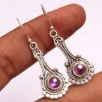 amethyst-Gemstone-Sterling-Silver-Drop-Earrings-for-Women-and-Girls-Bezel-Set-Ear-Wire-Earrings-Purple-Bridesmaid-Earr-B08K6198MJ