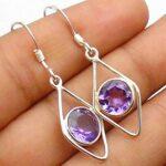 amethyst-Gemstone-Sterling-Silver-Parallelogram-Drop-Earrings-for-Women-and-Girls-Bezel-Set-Ear-Wire-Earrings-Purple-B-B08K64GK1Q