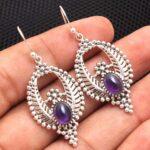 amethyst-Gemstone-Sterling-Silver-Vintage-Drop-Earrings-for-Women-and-Girls-Bezel-Set-Ear-Wire-Earrings-Purple-Bridesm-B08K611ZT4