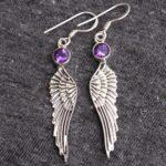 amethyst-Gemstone-Sterling-Silver-Wing-Drop-Earrings-for-Women-and-Girls-Bezel-Set-Ear-Wire-Earrings-Purple-Bridesmaid-B08K642V1Y